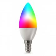 Lâmpada Inteligente RGB e Branca Vela E14 5W Dimerizável Smart