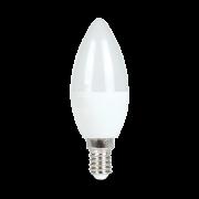 LAMPADA VELA LED LISO LEITOSA 4,8W 3000K E14 BIVOLT