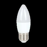 LAMPADA VELA LED LISO LEITOSA 4,8W 3000K E27 BIVOLT