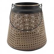 Lanterna Decorativa de Metal e Cortiça 25,5cm CR0094 BTC