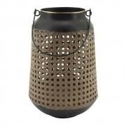 Lanterna Decorativa de Metal e Cortiça 26,5cm CR0093 BTC