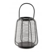 Lanterna Decorativa em Metal Preto 28cm 12065 Mart