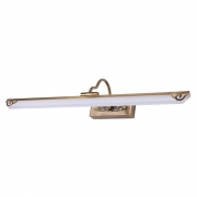 Arandela Camarim Flat Dourada Ajustável 61cm LED 8W 3000K Bivolt