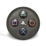 Luminária de Mesa Abajur Botão Playstation Preto 1E27 26x9cm Decor Fun