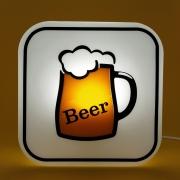 Luminária de Mesa Abajur Box Beer 1E27 22,5x9cm Decor Fun