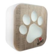 Luminária de Mesa Abajur Box I Love My Pet Led RGB com Controle Remoto 22,5x9cm Decor Fun