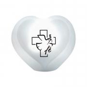 Luminária de Mesa Abajur Coração Cruz e Fé Led RGB com Controle Remoto 26x27cm Decor Fun