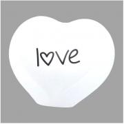 Luminária de Mesa Abajur Coração Love 1E27 26x27cm Decor Fun