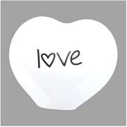 Luminária de Mesa Abajur Coração Love Led RGB com Controle Remoto 26x27cm Decor Fun