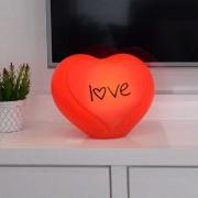 Luminária de Mesa Abajur Coração Vermelho Love 1E27 26x27cm Decor Fun