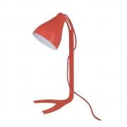 Luminária de Mesa Abajur Vermelho Fosco em Metal 1E27 43x18cm