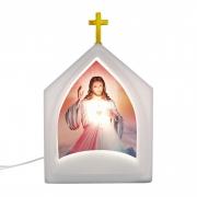 Luminária de Mesa Capela Oratória Jesus 1E27 39,5CM Decor Fun