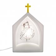 Luminária de Mesa Capela Oratória Jesus Traços 1E27 39,5CM Decor Fun
