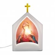 Luminária de Mesa Capela Oratória Maria 1E27 39,5CM Decor Fun
