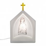 Luminária de Mesa Capela Oratória Maria Traços 1E27 39,5CM Decor Fun
