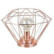 Luminaria Decorativa Metal Cobre Led 24x17,5CM QF0003