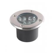 Luminária Embutir Solo Dresden Cromado LED 5W 3000K Bivolt