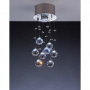 Luminária Plafon Barcelona Cristal 14x36cm 1 Lâmpada LLUM
