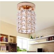 Luminária Plafon Rose Gold com Cristais Transparente 1E27 17cm