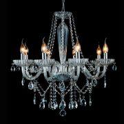 Lustre Anjou Candelabro Transparente 68X68CM 8E14 JF018C Bella