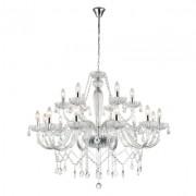Lustre 18 Braços Cristal Candelabro Transparente Anjou JF118C 18e14 100x82cm Bella