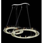 Lustre Pendente Rings Cristal 2 Anéis 45cm e 57cm Com Controle Remoto 74w Bivolt