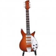 Mini Guitarra 16CM Com Estojo E Suporte BTC
