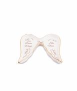Mini Prato Asas em Cerâmica Branco e Dourado 11346 Mart
