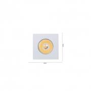Mini Spot Embutir Led Móveis Elysa Quadrado Branco 1W 3000k Bivolt