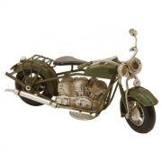 Moto Vintage Decorativa Metal Verde 19CM DR0011