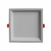 Plafon de Embutir Branco Low Frame 16,5cm LED 18W 4000K Bivolt DLD018N Bella