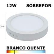 Painel Plafon LED 12W 17CM Sobrepor Redondo 3000K Bella DL091WW