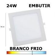 PAINEL PLAFON LED 24W 30CM EMBUTIR QUADRADO 6000K