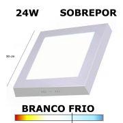 PAINEL PLAFON LED 24W 30CM SOBREPOR QUADRADO 6000K
