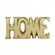 Palavra Home Decorativa em Cerâmica Dourado 18cm 4531 Lyor