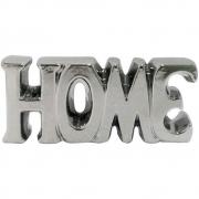 Palavra Home Decorativa em Cerâmica Prata 18cm 4532 Lyor