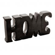 Palavra Home Decorativa em Cerâmica Preta 18cm 4533 Lyor