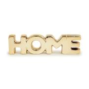 Palavra Home Decorativo em Porcelana Dourada 20x5cm 121514 Mart