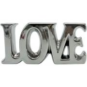 Palavra Love Decorativa em Cerâmica Prata 18cm 4535 Lyor