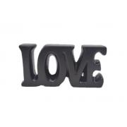 Palavra Love Decorativa em Cerâmica Preto 18cm 4536 Lyor