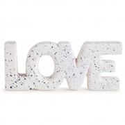 Palavra Love Decorativo em Cerâmica Branca 26,5x10cm 11282 Mart