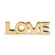 Palavra Love Decorativo em Porcelana Dourada 20,5x5,5cm 12151 Mart