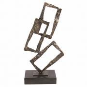 Peça Decorativa Geométrica Metal Envelhecido 37cm VE0050 BTC