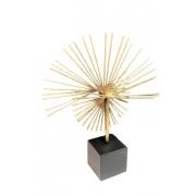 Peça Decorativa Metal Dourado e Preto 37cm VE0030 BTC