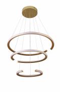 Pendente 3 Anéis Open Dourado Led Interno e Externo 145W 3000K Bivolt