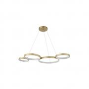 Pendente 4 Anéis Horizontal Dourado LED 57W 3000K Bivolt