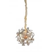 Pendente Alumínio Rose Gold e Cristal 6G9 45cm