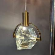Pendente Cubo Cristal Bronze LED 5W 3200K Bivolt