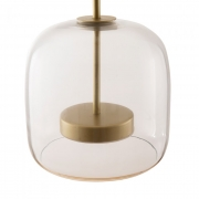 Pendente LED Wazon Vidro Transparente 12W 3000K Bivolt