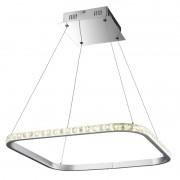 Pendente Quadrado Cromado Cristal Âmbar LED 36W 2700K Bivolt Starlux